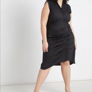 Eloquii Dresses - Eloquii Shirtdress with Pleated Skirt NWT Size 16